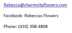 Wedding Flower Contact Details